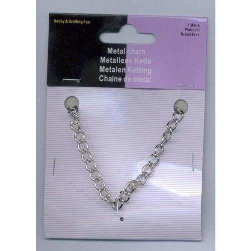 Metalen ketting zilverkleur 5,5 mm 1 meter