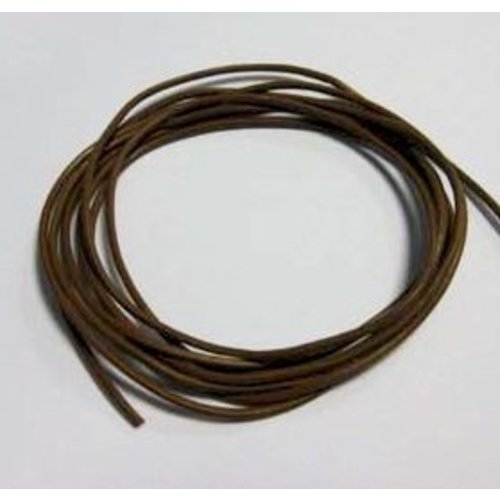 Leerkoord Bruin 2 mm 2 meter