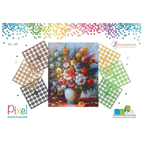 PixelHobby Pixelhobby patroon 5634 Boeket Fleurige Bloemen