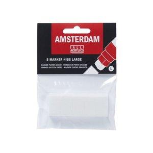 Amsterdam Amsterdam Acryl marker punten groot 15 mm vierkant maat L