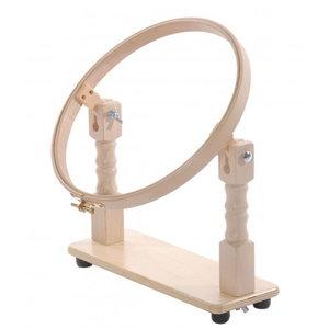 Houten Borduurstander met ring 25 cm voor op tafel