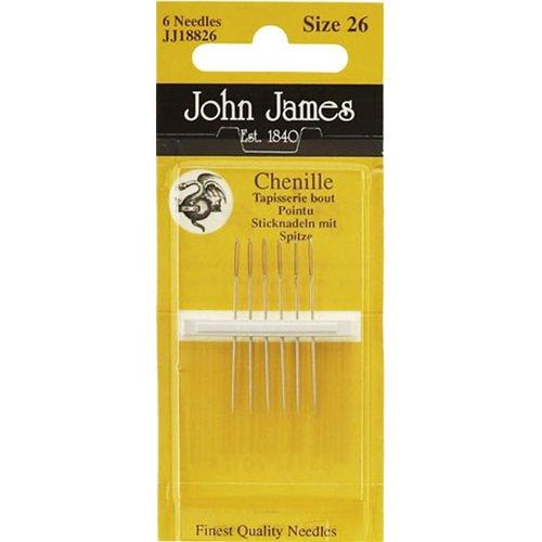 John James Borduurnaalden John James Chenille mt 26 met punt