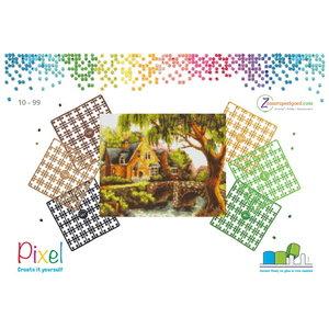 PixelHobby Pixelhobby patroon 809134 Huis met brug in geschenkverpakking
