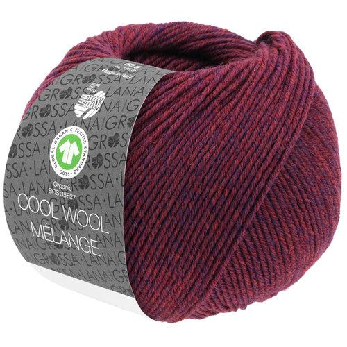 Lana Grossa Lana Grossa Cool Wool Mélange Gots 50 gram nr 127 Wijnrood