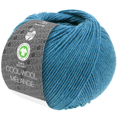 Lana Grossa Lana Grossa Cool Wool Mélange Gots Jeansblauw 50 gram nr 125