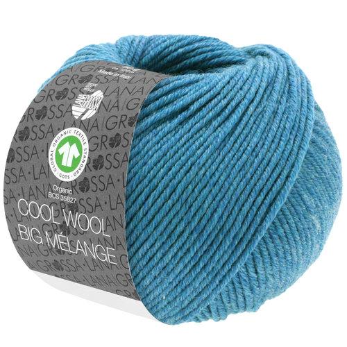 Lana Grossa Lana Grossa Cool Wool Big Mélange Gots Jeansblauw nr 225