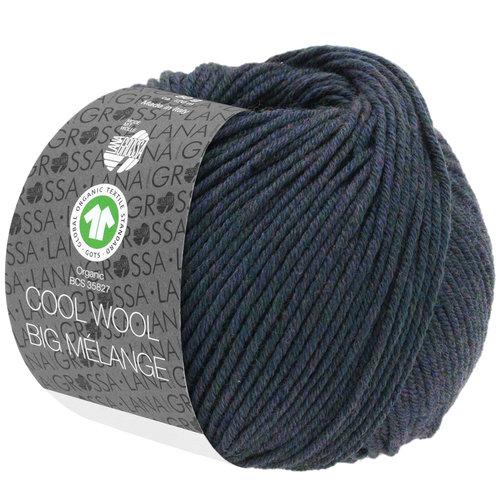 Lana Grossa Lana Grossa Cool Wool Big Mélange Gots Blauwgroen nr 204