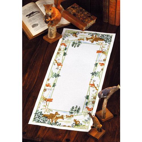 Permin Borduurpakket Tafelkleed Dieren uit het Bos 68-8135