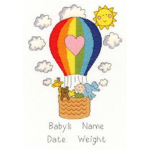 Bothy Threads Bothy Threads Geboorte Borduurpakket Balloon Baby xnb08