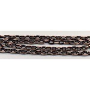 Metalen ketting antiek koperkleur 7.5 mm x 1 meter