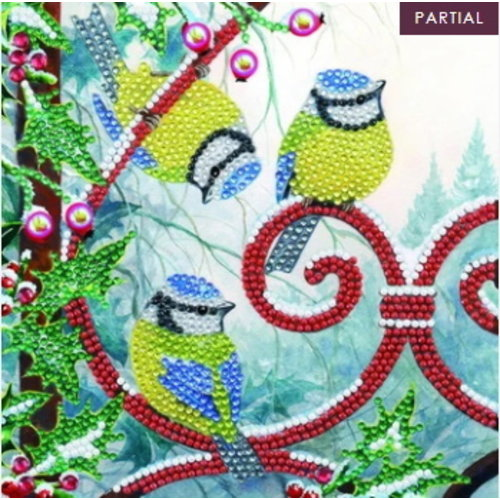 Crystal Art Crystal Art Diamond Painting Kerstkaart Frosted Feathers