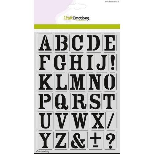CraftEmotions CraftEmotions stencil - alfabet vintage A5 - H=27mm
