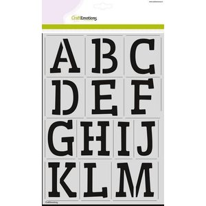 CraftEmotions CraftEmotions stencil - alfabet 2xA4 - H=60mm