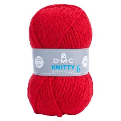 DMC DMC Knitty 6 100 gram nr 698 Rood