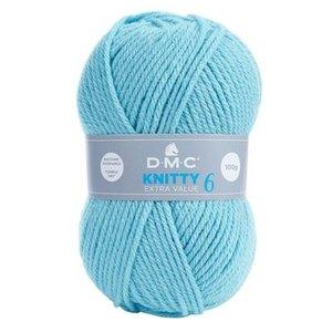 DMC DMC Knitty 6 100 gram nr 741 IJsblauw