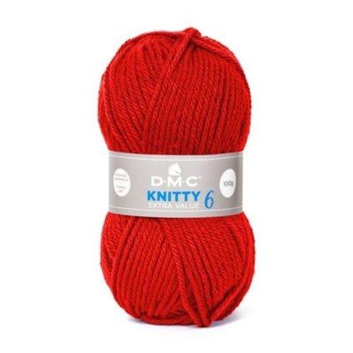 DMC DMC Knitty 6 100 gram nr 779 Rood