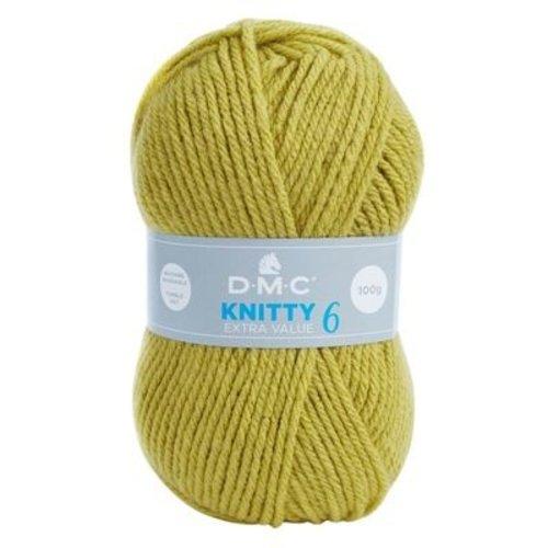 DMC DMC Knitty 6 100 gram nr 785 Groen Geel