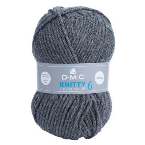 DMC DMC Knitty 6 100 gram nr 786 Grijs