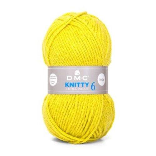 DMC DMC Knitty 6 100 gram nr 819 Geel