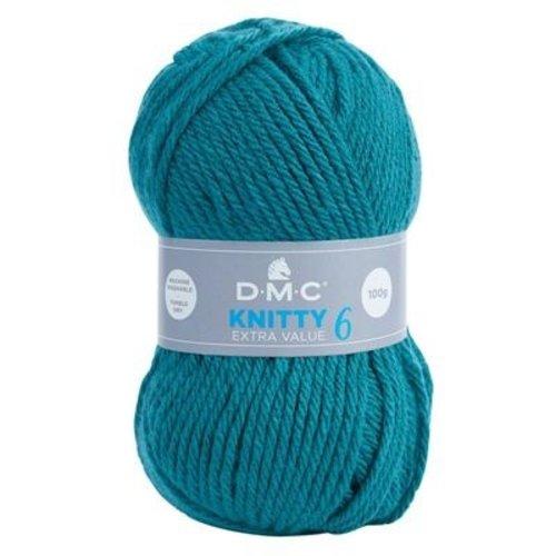 DMC DMC Knitty 6 100 gram nr 829 Blauw Groen