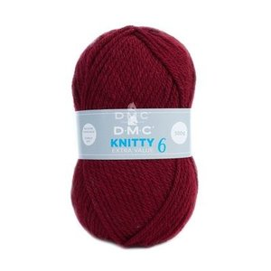 DMC DMC Knitty 6 100 gram nr 841 Bordeaux Rood
