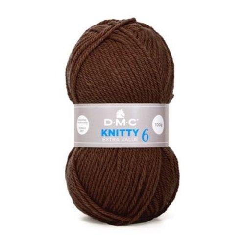 DMC DMC Knitty 6 100 gram nr 947 Donkerbruin