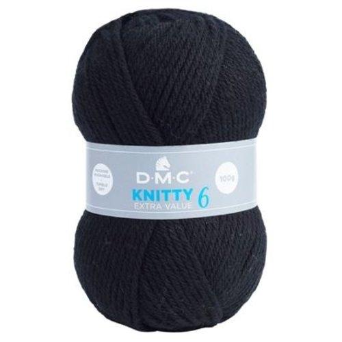 DMC DMC Knitty 6 100 gram nr 965 Zwart