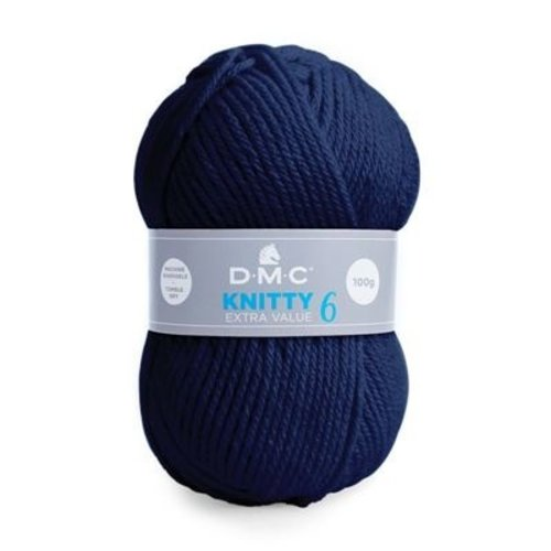 DMC DMC Knitty 6 100 gram nr 971 Donkerblauw
