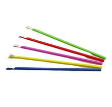 100st. Papieren lepelrietjes Assorti Kleuren (FSC) Ø  6mm - 24cm