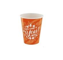 50st. Kartonnen Milkshake bekers Oranje For You