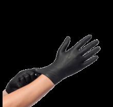100st. Nitril Handschoenen Zwart