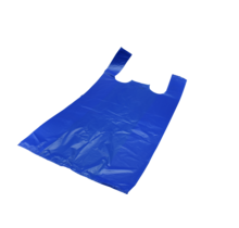 100st. Plastic Markt tassen Blauw HDPE