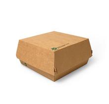 25st. BIO Hamburgerbakjes Groot FSC karton 100% Fair 155x155x90mm