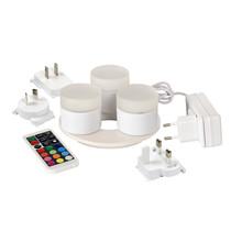 LED Multicolor Theelichten Set van 3 of 8 stuks, Herlaadbaar