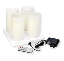 4st. LED Stompkaars Kandelaar 220x75mm 12u Warm White
