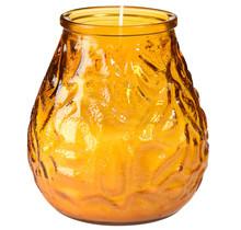 12st. Kaars in glas Eurovenetian ca 70 uur Venezia Amber