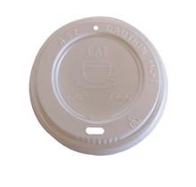 1000st. Deksel wit voor espresso koffiebeker Ø62mm 120ml 4oz