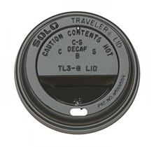 1000st. Deksel zwart voor koffiebeker Ø80mm 240ml 8oz