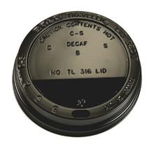 1000st. Deksel zwart voor koffiebeker Ø90mm 300ml - 350ml - 450ml
