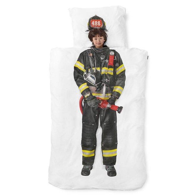 Dekbedovertrek Snurk - Stoere Brandweerman