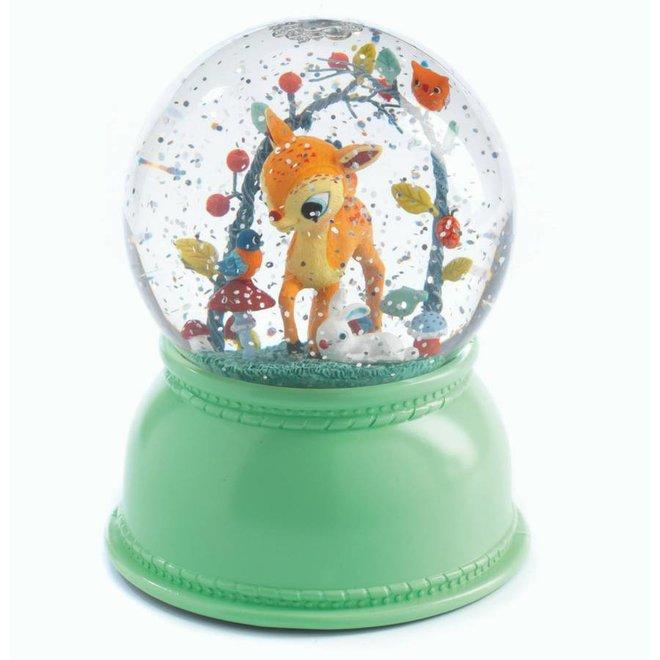 Nachtlampje en sneeuwbol hertje   Djeco