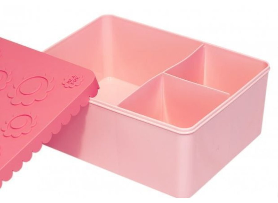 Toffe lunchbox HDPE roze   Blafre