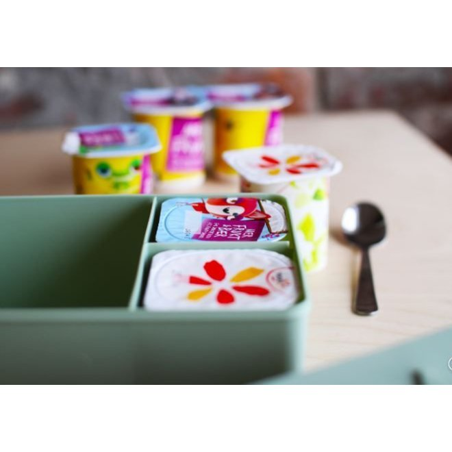 Toffe lunchbox HDPE roze | Blafre