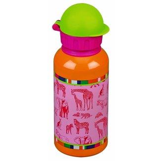 Leuke drinkfles 0,4l roze dieren Kleine Vrienden