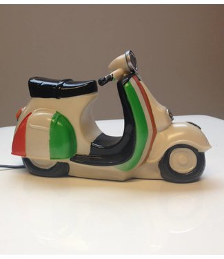 Leuke nachtlamp scooter Italian flag 3D
