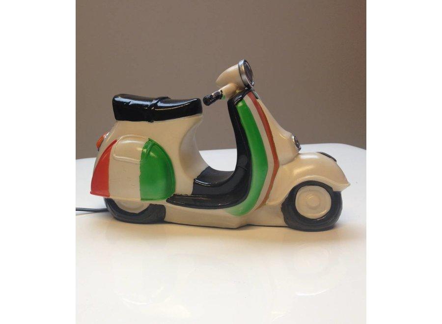Leuke nachtlamp scooter Italian flag 3D