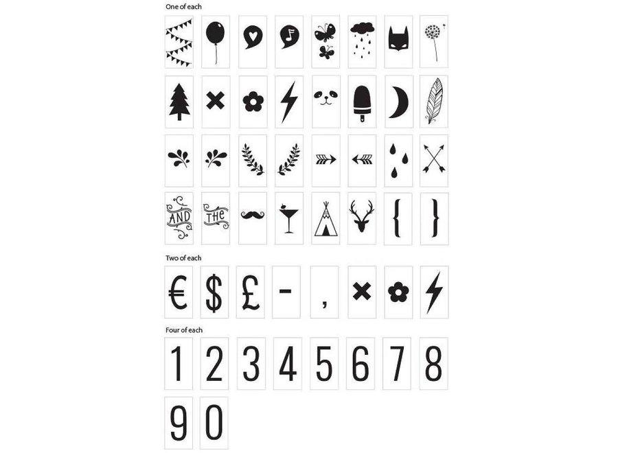 Symbolenset voor lightbox | A little lovely company