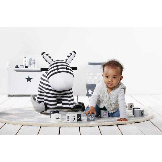 Schommelpaardje 'Rocking horse' zwart/wit | Kid's concept