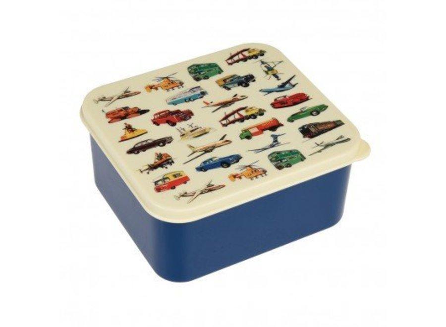 Brooddoos transport blauw vierkant   Rex