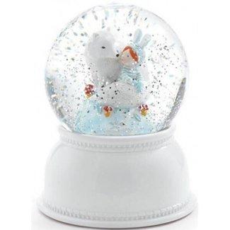 Djeco Nachtlampje en sneeuwbol 'lila & pupi' | Djeco